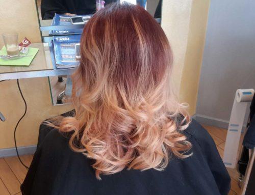 Balayage-Technik: mutig von rot nach blond