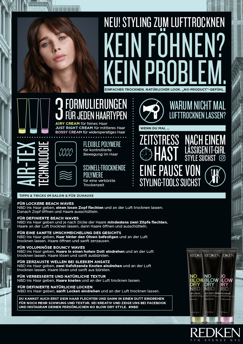Headliners Redken No Blow Dry Stylist